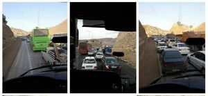 ترافیک سنگین در ۷۰ کیلومتری مهران