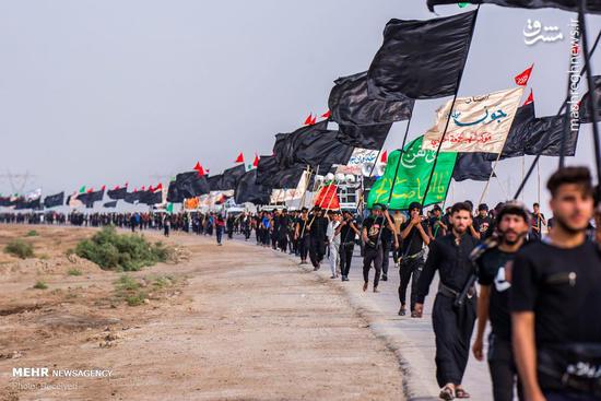 فیلم/ صف ۵ کیلومتری زائران اربعین در مهران