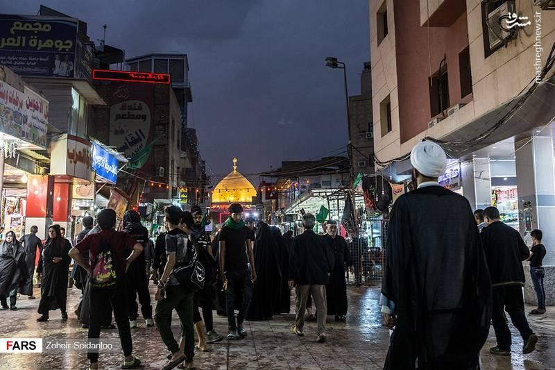عکس/ بارش باران در نجف اشرف