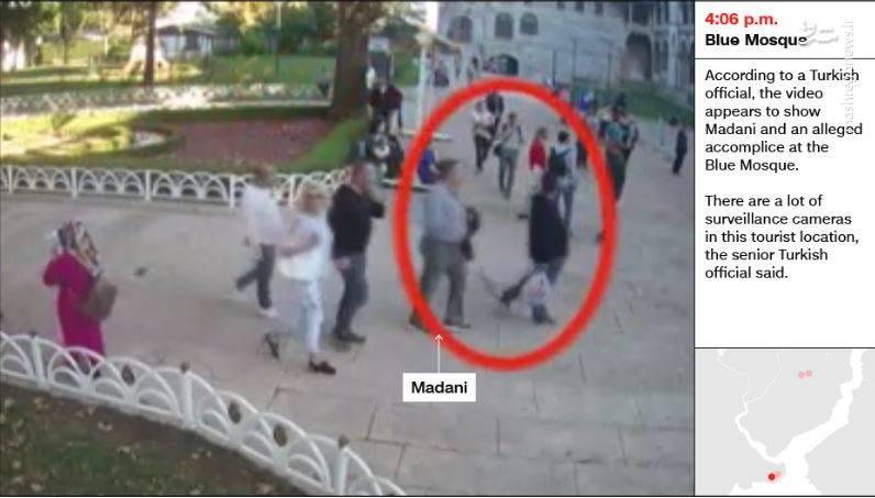 «مصطفی المدنی» در اطراف مسجد سلطان احمد