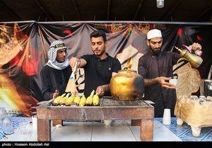 عکس/ بلال صلواتی برای زائران اربعین