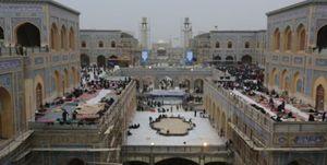 زائران اربعین در صحن حضرت زهرا