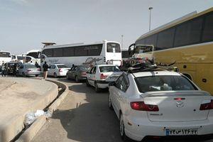 فیلم/ ترافیک بیسابقه در ۷۰ کیلومتری مهران