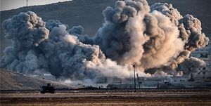 جنگندههای آمریکایی یک روستا را در سوریه بمباران کردند