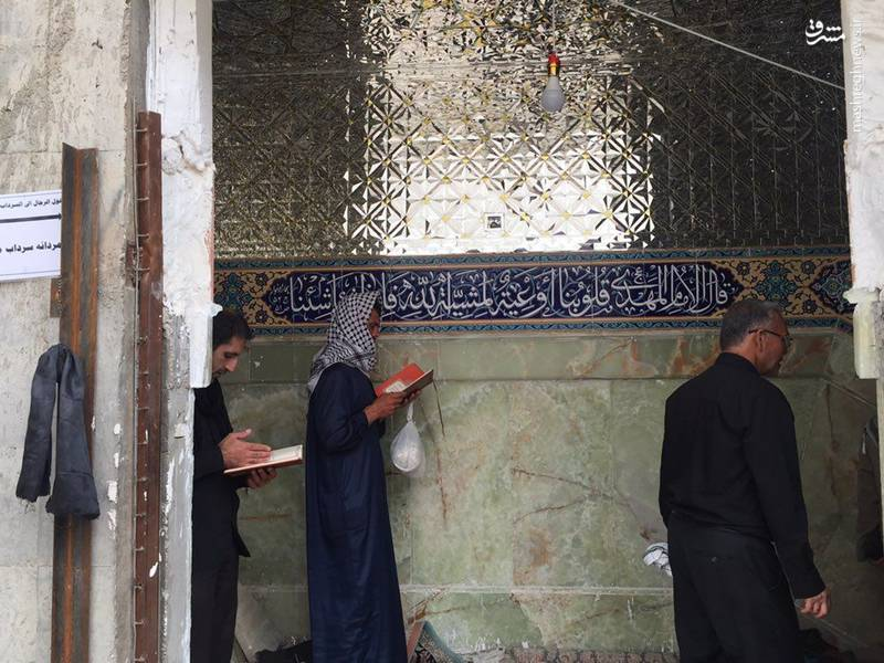 حال و هوای سرداب امام زمان (عج) در حرمین امامین عسکریین در سامرا، صبح جمعه