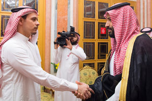 دیداری که بن سلمان و پدرش برای کاهش فشار در پرونده خاشقچی برای دیدار با صالح پسر خبرنگار مقتول ترتیب دادند.