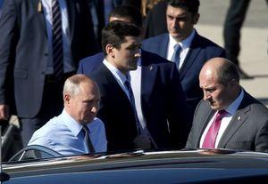 عکس/ ورود پوتین،مرکل و ماکرون به ترکیه
