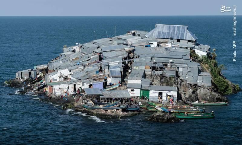 خانههایی که در دریاچه ویکتوریا در مرز کنیا و اوگاندا واقع شده و عمده ساکنانش ماهیگیر هستند.
