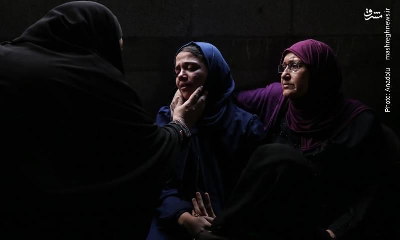 مراسم ترحیم منتصر محمد اسماعیل، جوان 17 سالهای که توسط سربازان اسرائیلی به شهادت رسید.