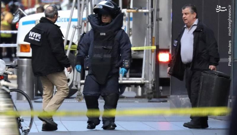 عملیاتی در نیویورک پس از آنکه اعلام شد یک بسته مشکوک در دفتر سیانان پیدا شده است.