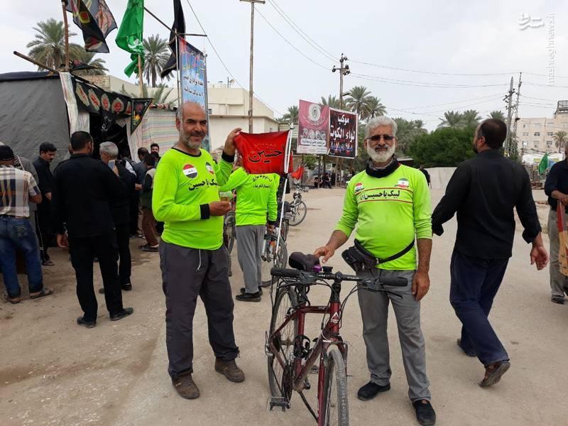 دوچرخه سواری از خرمشهر تا کربلا در مسیر پیادهروی بزرگ اربعین