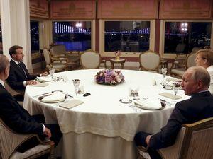 عکس/ ضیافت شام اردوغان برای پوتین،مرکل و ماکرون