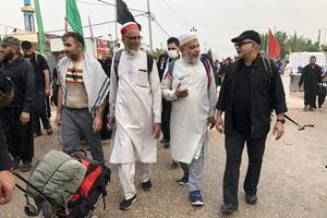 عکس/ پرویز پرستویی در پیادهروی اربعین