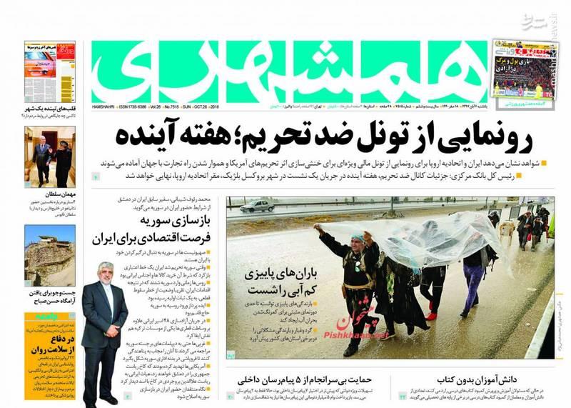همشهری: رونمایی از تونل ضد تحریم؛ هفته آینده