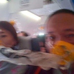عکس/ آخرین سلفی قبل از سقوط مسافران هواپیما