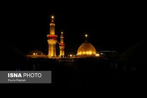 عکس/ شب اربعین در حرمین اباعبدالله حسین(ع) و ابوالفضل عباس(ع)