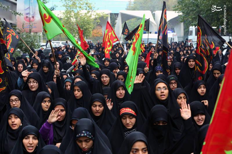 مراسم عزاداری اربعین سیدالشهدا(ع) با حضور هیئتهای دانشجویی در حسینیه امام خمینی(ره)