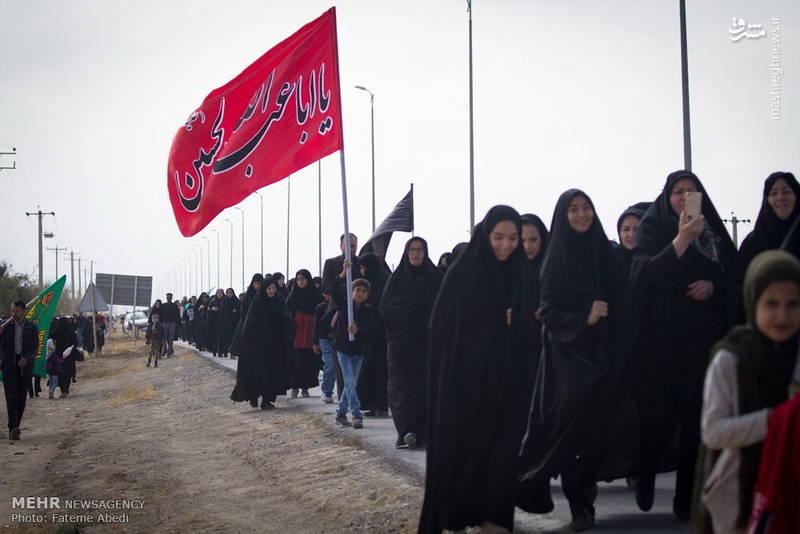 راهپیمایی جاماندگان اربعین حسینی در اراک