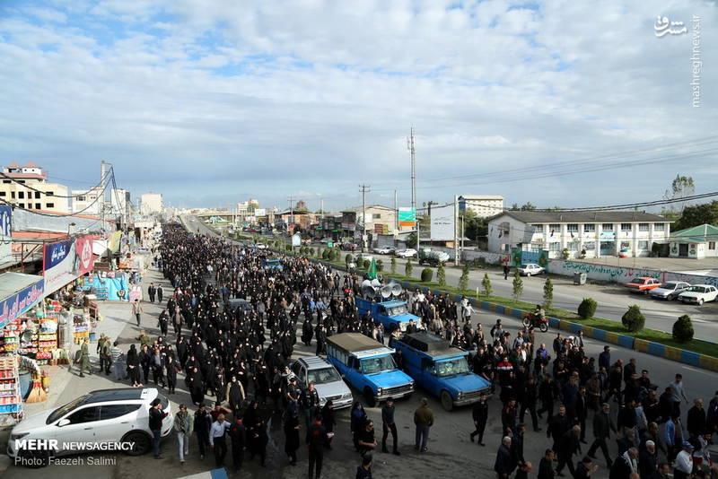 راهپیمایی جاماندگان اربعین حسینی در آمل