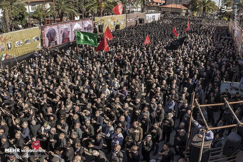 راهپیمایی جاماندگان اربعین حسینی در رشت
