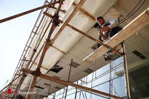 عکس/ آمادهسازی ورزشگاه آزادی برای فینال لیگ قهرمانان