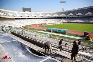 آماده سازی ورزشگاه آزادی برای دیدار فینال لیگ قهرمانان آسیا