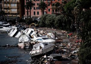 عکس/ خسارت طوفان مهیب در ایتالیا