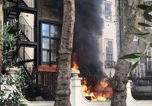 وقوع آتش سوزی و انفجار نزدیک سفارت عربستان در لندن