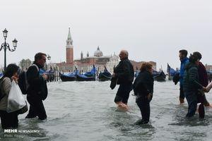 """عکس/ اوضاع """"ونیز ایتالیا"""" بعد از بارش باران!"""