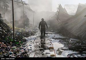 عکس/ آتشسوزی گسترده در میدان هرندی