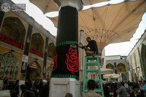 عکس/ سیاهپوشی حرم حضرت علی(ع) در آستانه 28صفر