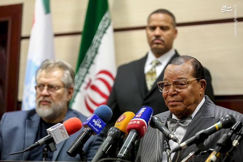 سخنرانی لوئیس فراخان رهبر مسلمانان آمریکا در دانشگاه تهران