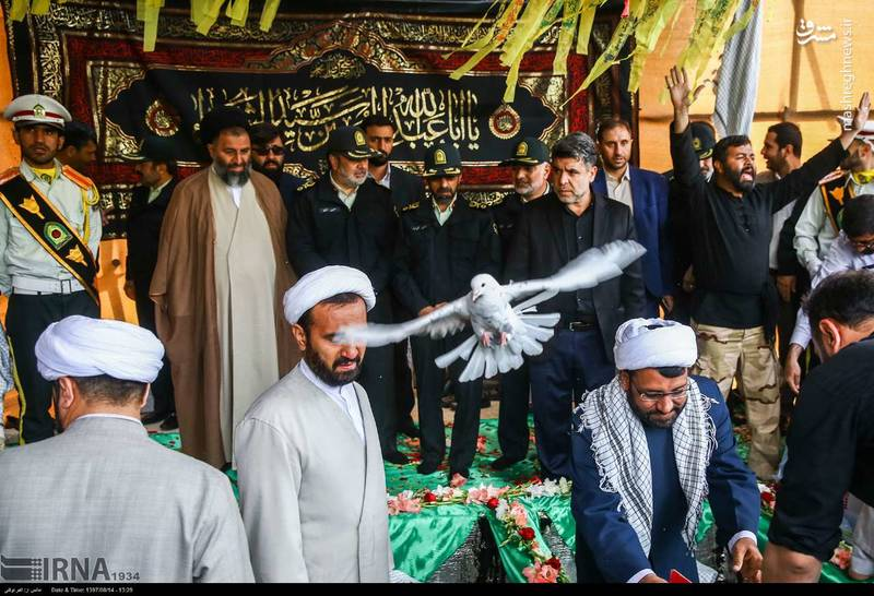 2378626 - تدفین سه شهید گمنام دوران دفاع مقدس
