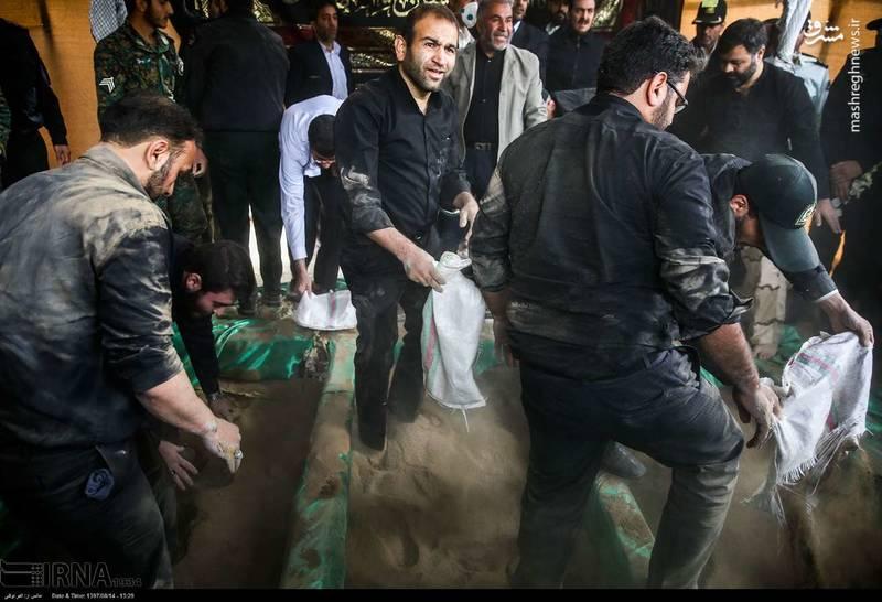 2378634 - تدفین سه شهید گمنام دوران دفاع مقدس