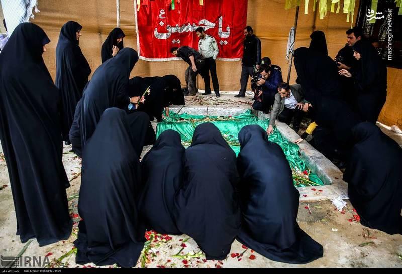 2378635 - تدفین سه شهید گمنام دوران دفاع مقدس