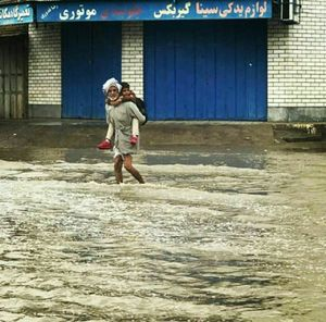 تصویری دیدنی از بارندگی امروز اهواز