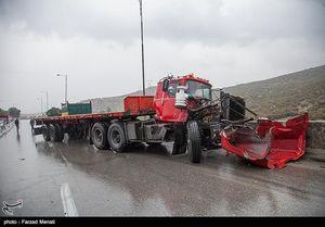 عکس/ تصادف زنجیره ای در کرمانشاه