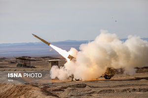 عکس/ رونمایی از سامانه موشکی مرصاد