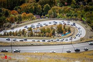 عکس/ ترافیک سنگین در جاده چالوس