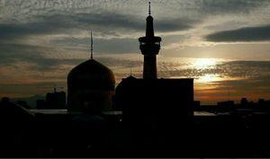 عکس/ آخرین غروب ماه صفر در حرم امام رضا (ع)