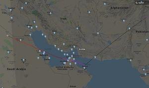 نقشه فرود هواپیمای اسرائیلی