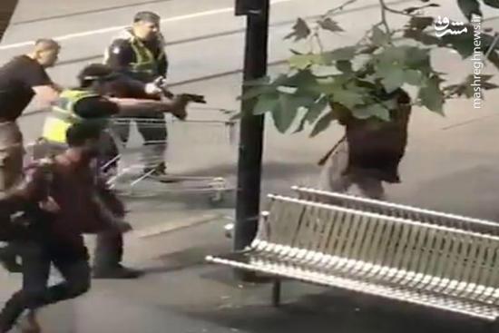 فیلم/ حمله با چاقو به شهروندان در ملبون!
