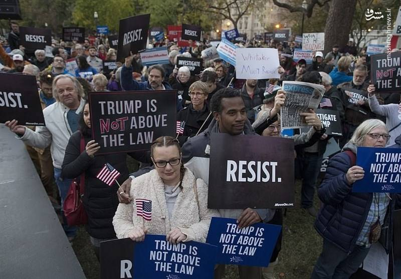تظاهرات علیه ترامپ مقابل کاخ سفید +عکس