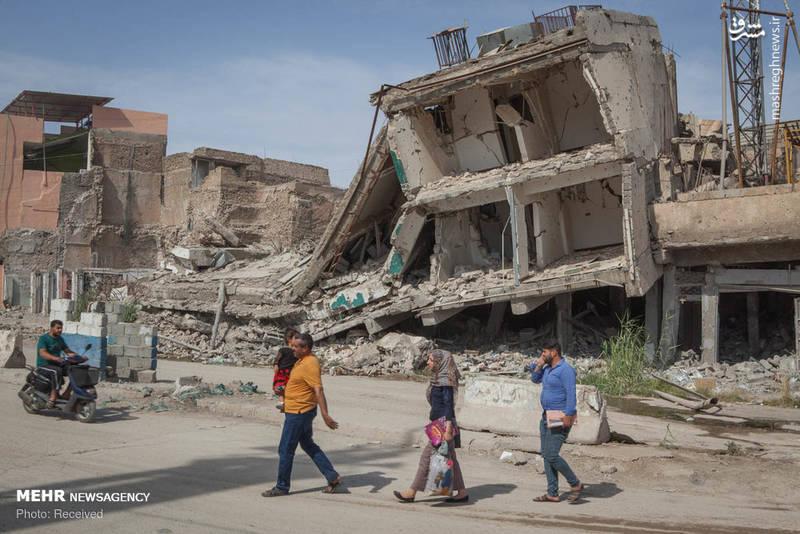 عکس/ ویرانی های موصل یکسال پس از داعش
