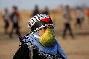 عکس/ روش جالب مقابله با گاز اشک آور در فلسطین