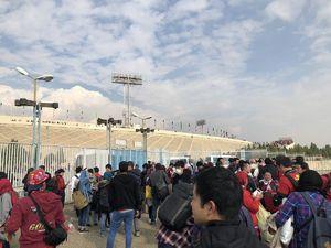 عکس/ حضور هواداران کاشیما در ورزشگاه آزادی