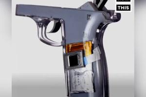 فیلم/ اسلحه ای که با اثر انگشت صاحبش کار می کند!