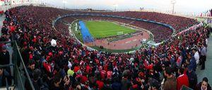 عکس پانوراما از استادیوم قرمز پوش آزادی