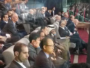 عکس/ رییس فدراسیون فوتبال قطر در ورزشگاه آزادی