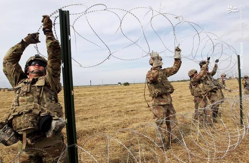 ارسال سربازان از سوی ترامپ به مرزهای جنوبی و استقرار موانع در مسیر کاروان مهاجران